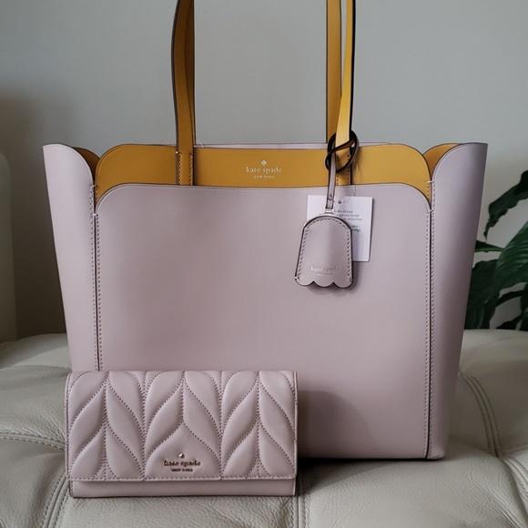 kate spade Handbags - Kate Spade 2PC Magnolia Street MD Tote & Wallet